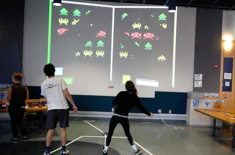 Big screen dynamic full-body game designed by Justin Gitlans