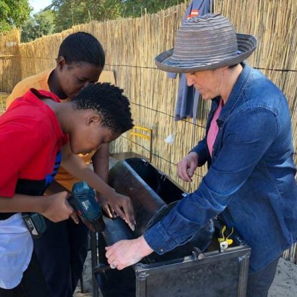 ICTD Student working with children
