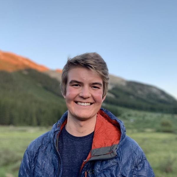 Henry Kvietok in front of mountain in Aspen.
