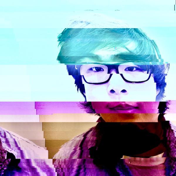 Glitched photo of Isaac Kim