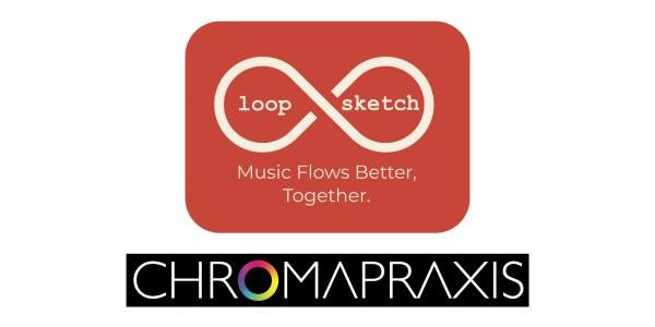 LoopSketch logo on top with Chromapraxis on the bottom.