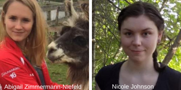 Nicole Johnson and Abigail Zimmermann-Niefeld