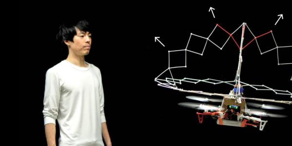 drone with expandable protective cage that deploys based on proximity to solid objects