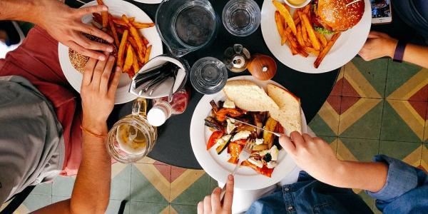 Photo of people eating food