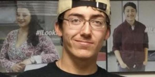 Mason Moran in CU Boulder baseball cap and shirt.