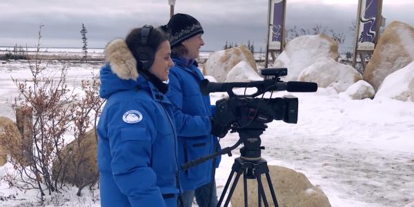 Barbara MacFerrin films in Churchill, Alaska
