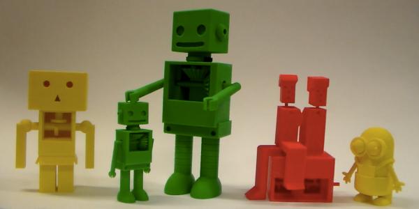 Kinemaker 3D printed models