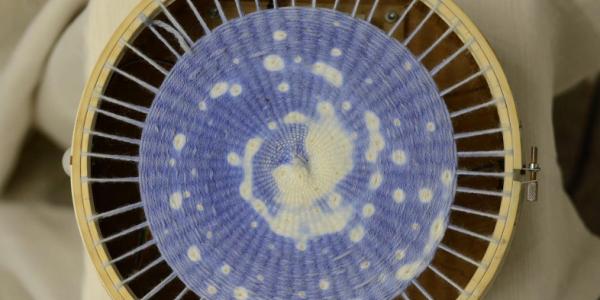 A woven textile animation