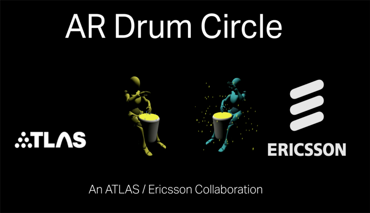 AR Drum Circle logo of two avatars