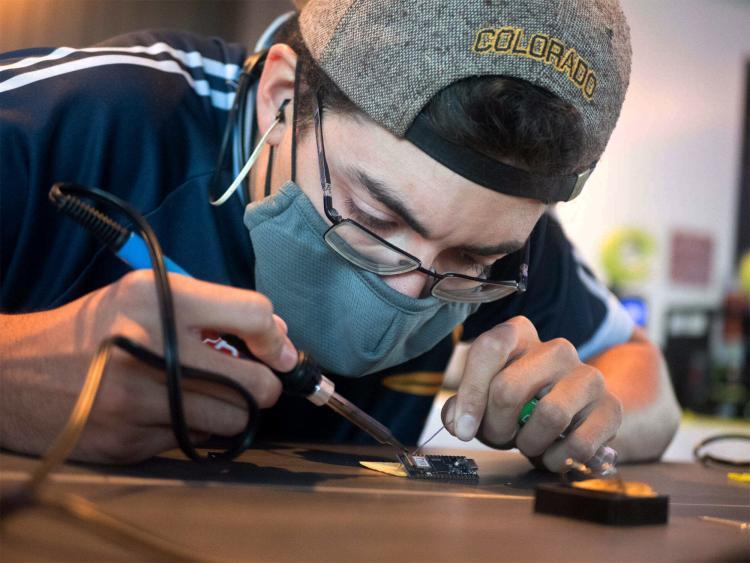 Mason Moran soldering