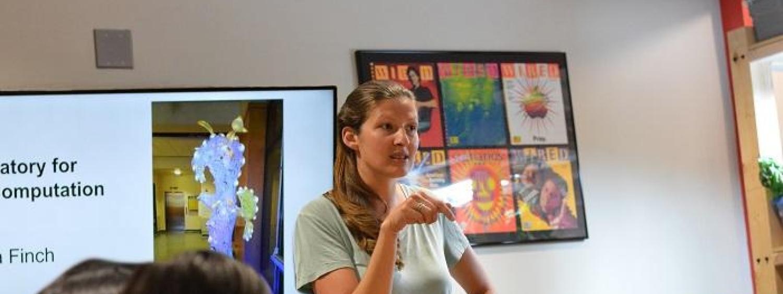 Lila Finch teaches workshop at ATLAS
