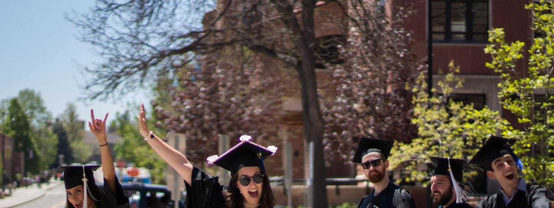 Photo of excited ATLAS graduates