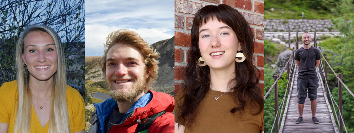 Photos of the 4 recipients of the ATLAS Outstanding Undergraduate Awards