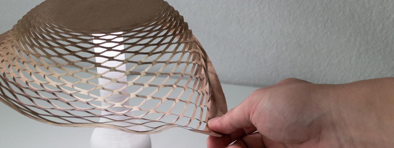 Interactive paper lamp shade.