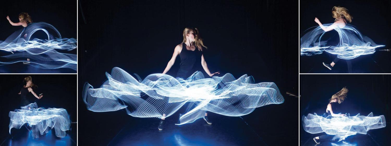 5 frames of Emily Daub dancing