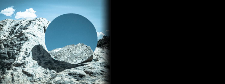 Photo of mirror on mountain