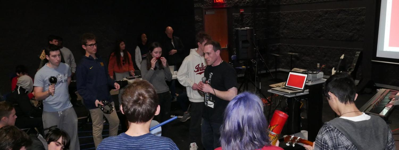 Lesson on improvisation using Jam Tabs at Highland Park High School Focus on the Arts 2019.