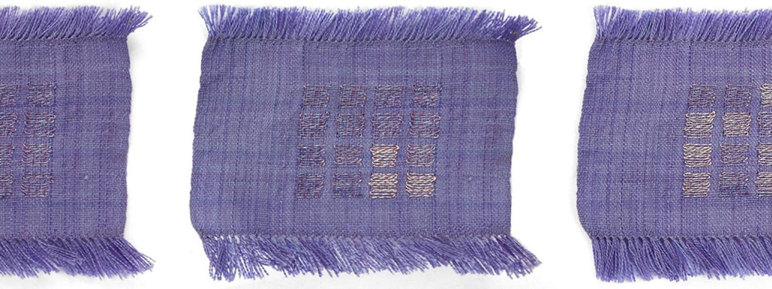 A smart textile display created by weaving smart threads