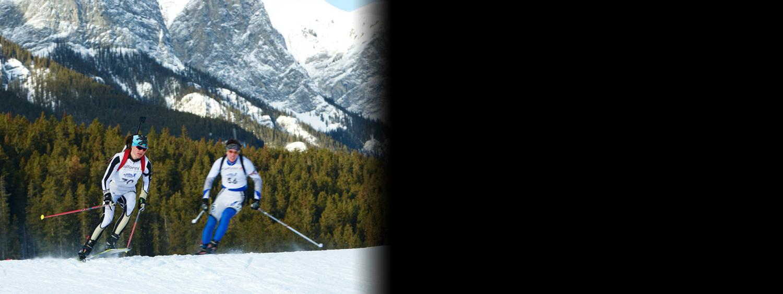 Photo of Joanne Reid skiing