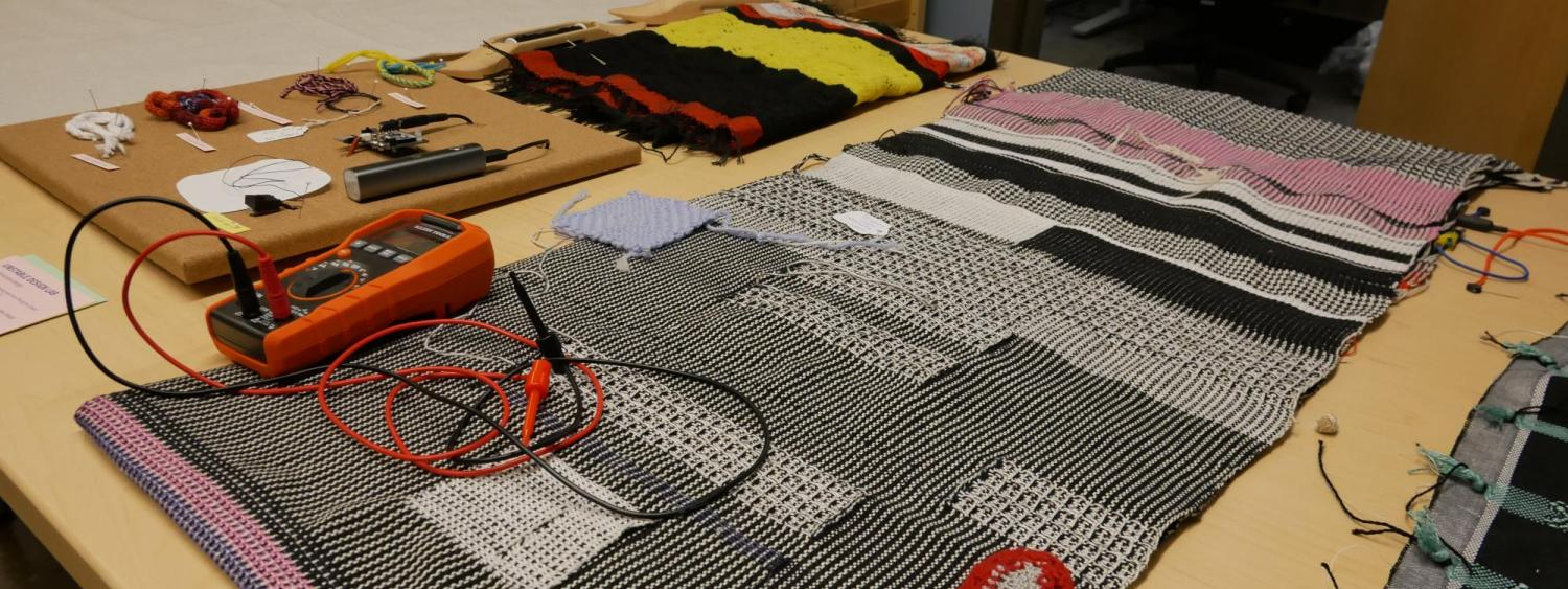 Smart textiles on a table