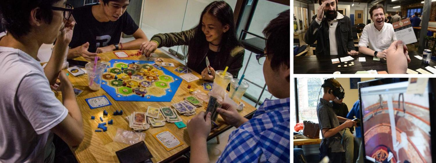 People playing games