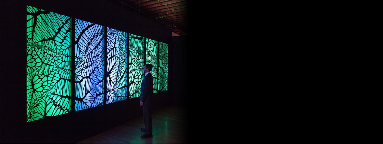 "Photo of Micheal Theodore''s ""Supraliminal"" art exhibit"