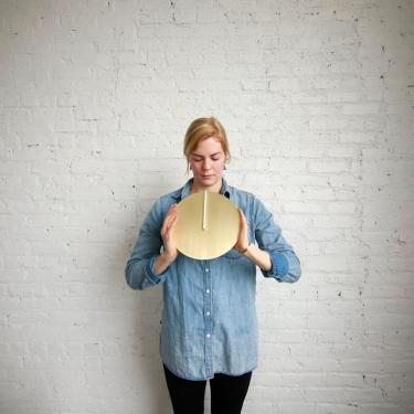 Arielle Hein with daylight clock