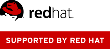 supported by red hat logo