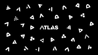 ATLAS Black Zoom Background design