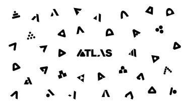 ATLAS White Zoom Background design