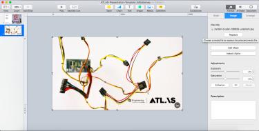 Photo of keynote presentation slides