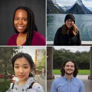 A collage of the eight PhD students who won Graduate School awards.
