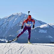 ICTD alumna Joanne Reid competing in biathlon