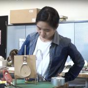 HyunJoo Oh with paper mechatronics
