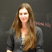 Laura Devendorf stands in her Unstable Design Lab.