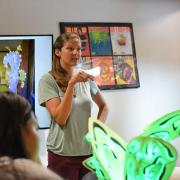 Lila Finch teaches workshop at ATLAS