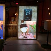 """The performance artist Michelle Ellsworth's """"Clytigation: State of Exception"""" at the Chocolate Factory in Queens."""