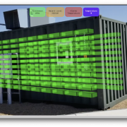 augmented reality view of a battery energy storage container