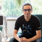 Hedayati with robot