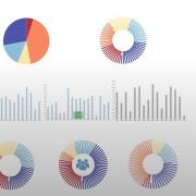 illustration of various types of charts and graphs