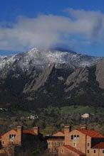 CU Boulder below the flatirons