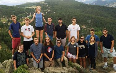 Baker RAP students pose for a picture on a hike