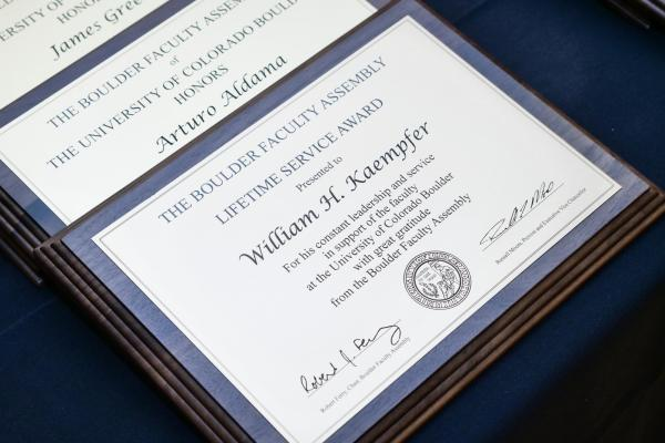 Leadership service plaques