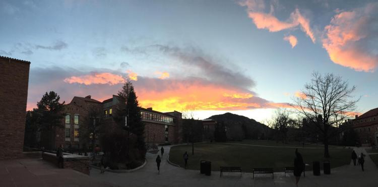 Norlin Quad at Sunset