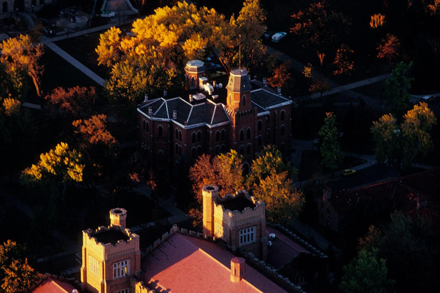 Aerial view of Old Main Chapel