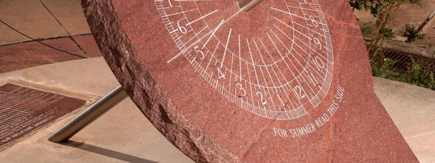 Sundial by Norlin Library