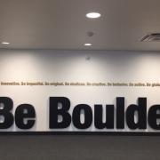 CASE building BE BOULDER sign