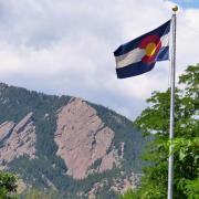 Colorado Flag Flatirons