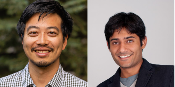 Assistant Professors Edward Chuong (left) and Sandeep Sharma. Photo: CU Boulder