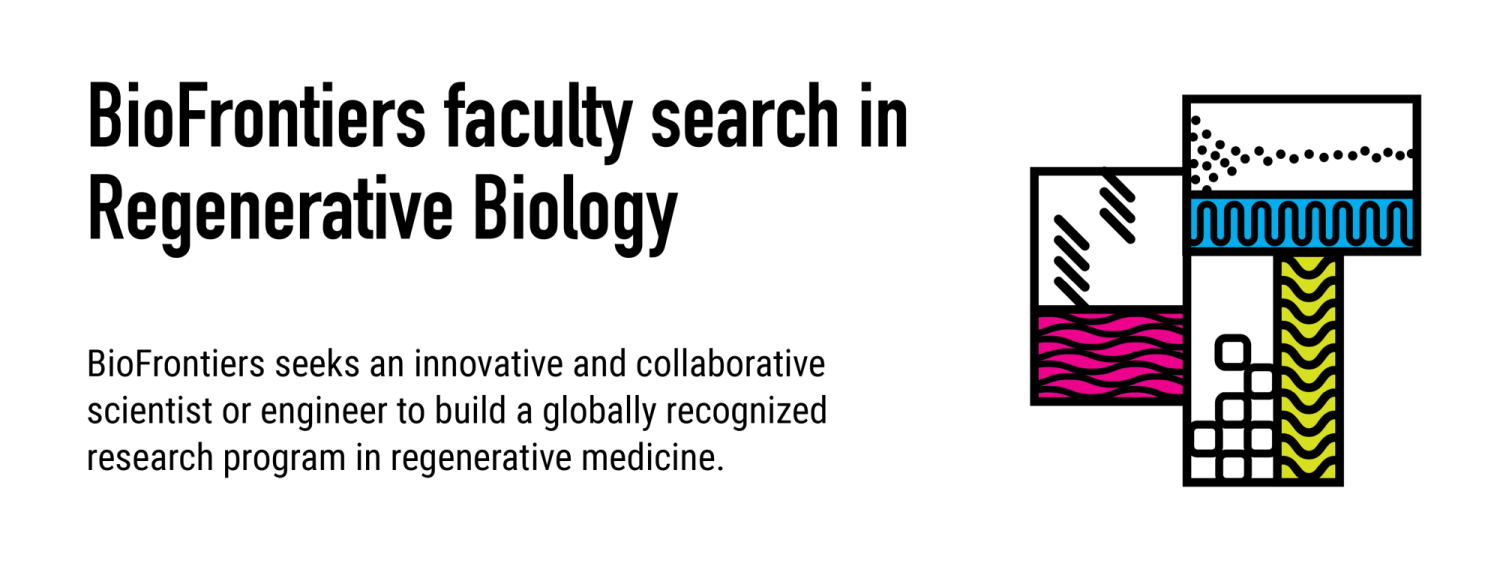 BioFrontiers seeks an innovative and collaborative scientist or engineer to build a globally recognized research program in regenerative medicine.